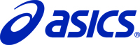 Logo Asics azul
